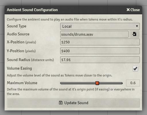 Ambient Sound Configuration