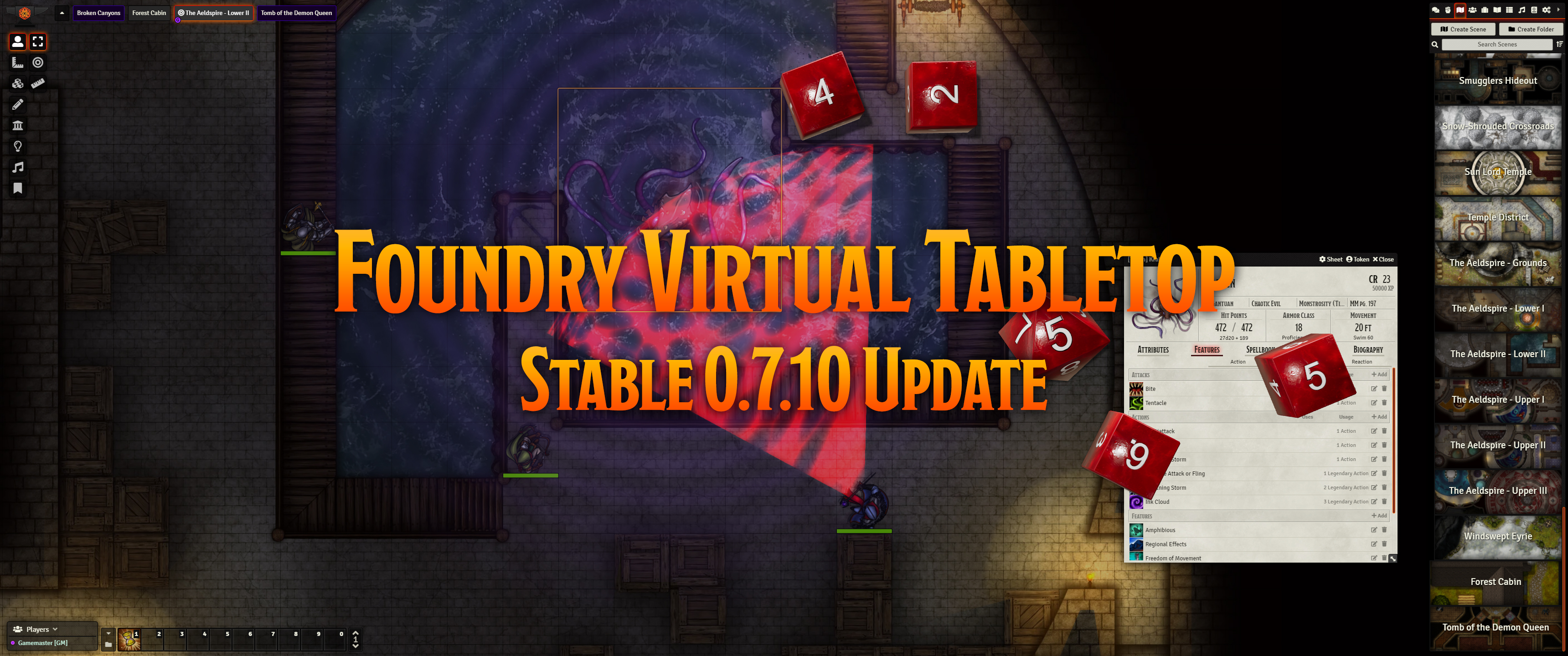 Release Notes for the Foundry Virtual Tabletop 0.7.10 version