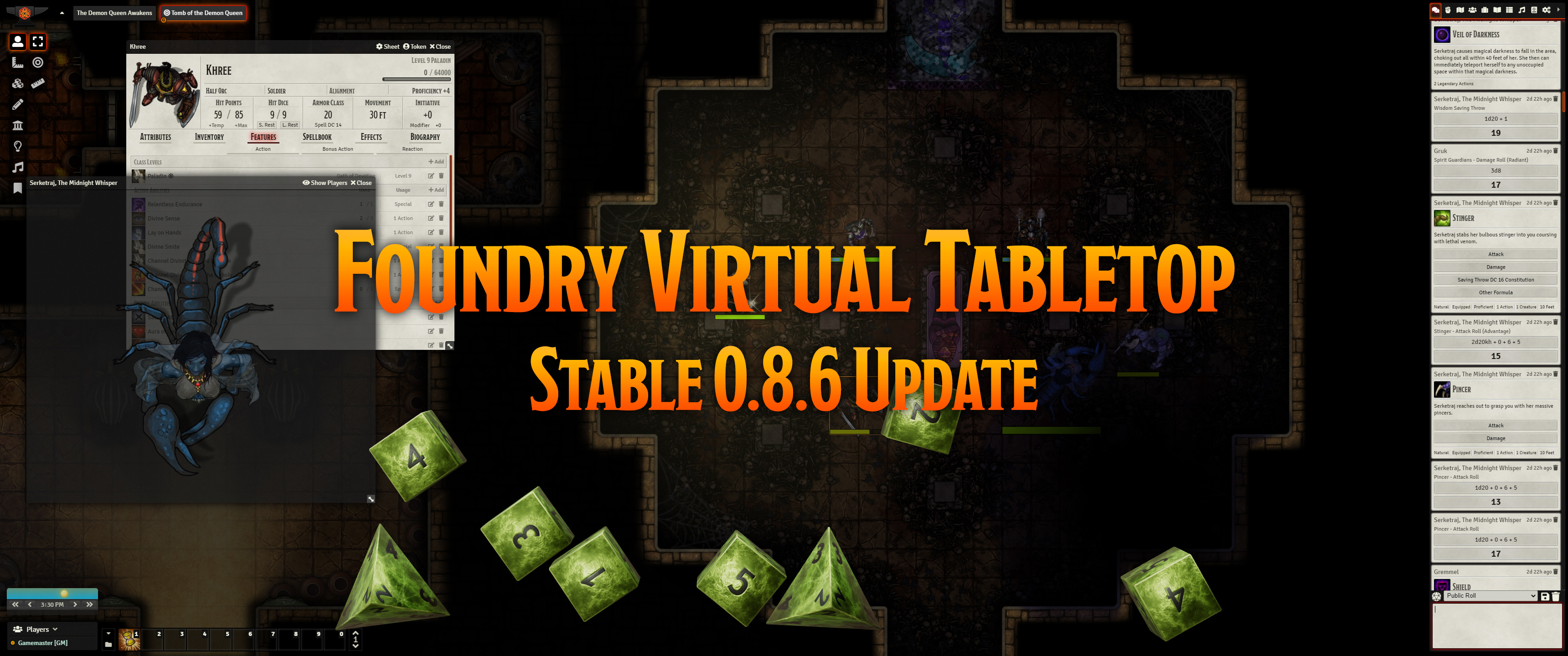 Release Notes for the Foundry Virtual Tabletop 0.8.6 version