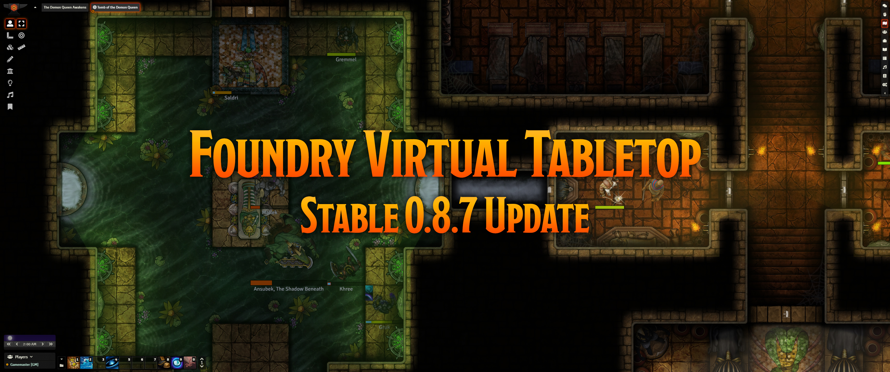 Release Notes for the Foundry Virtual Tabletop 0.8.7 update version