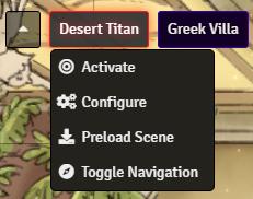 Scene Navigation Context Menu