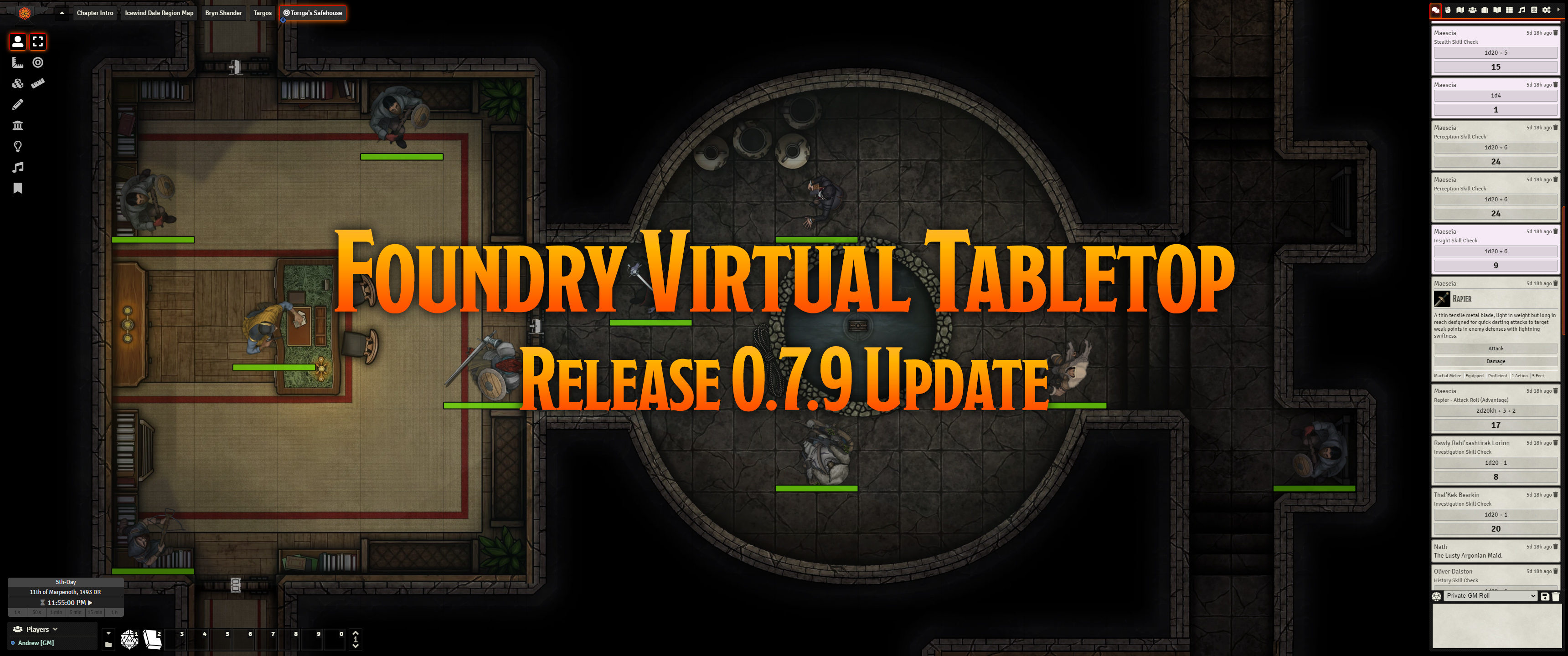 Release Notes for the Foundry Virtual Tabletop 0.7.9 update version