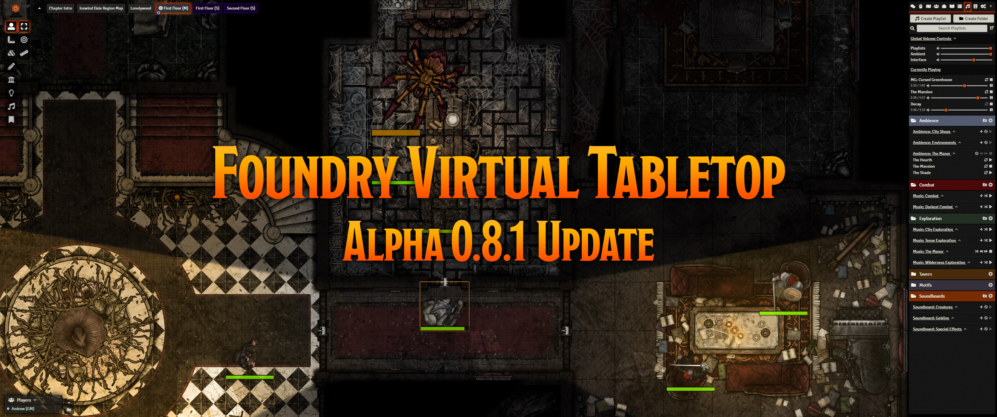 Release Notes for the Foundry Virtual Tabletop 0.8.1 version