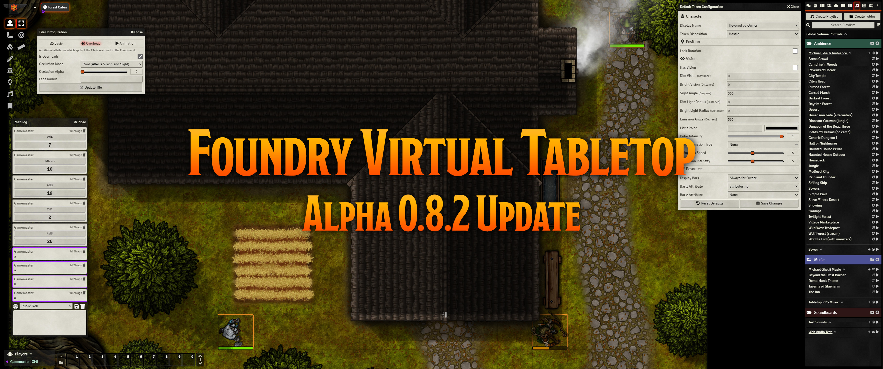 Release Notes for the Foundry Virtual Tabletop 0.8.2 version
