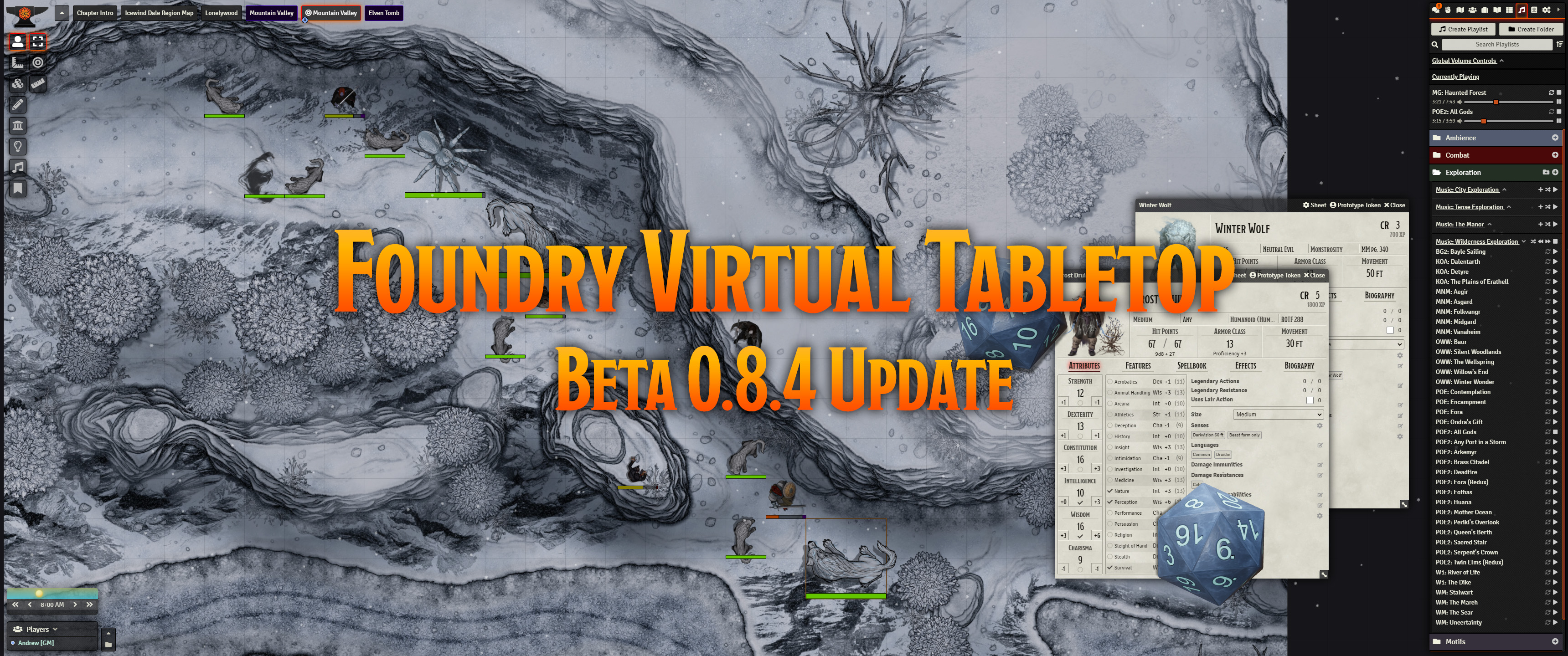 Release Notes for the Foundry Virtual Tabletop 0.8.4 version