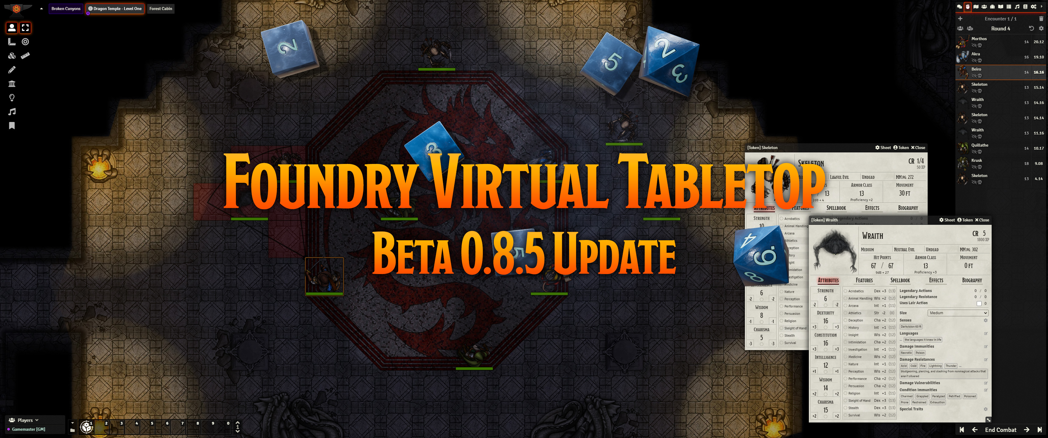 Release Notes for the Foundry Virtual Tabletop 0.8.5 version