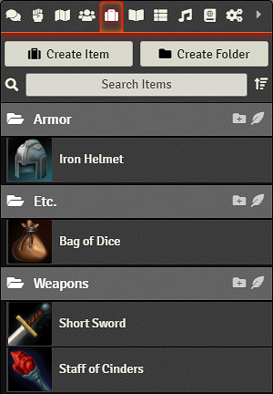 Items Directory