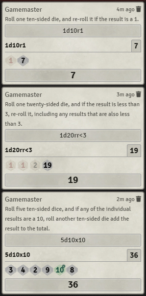 Re-rolls and Exploding Dice