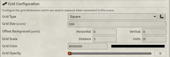 Scenes - Configuration, Grid