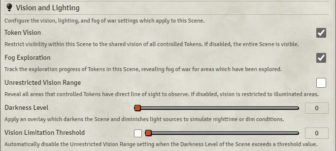 Scenes - Configuration, Vision & Lighting
