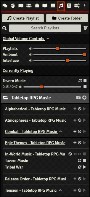 The Playlist Directory Controls