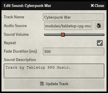 The Playlist Sound Configuration Sheet