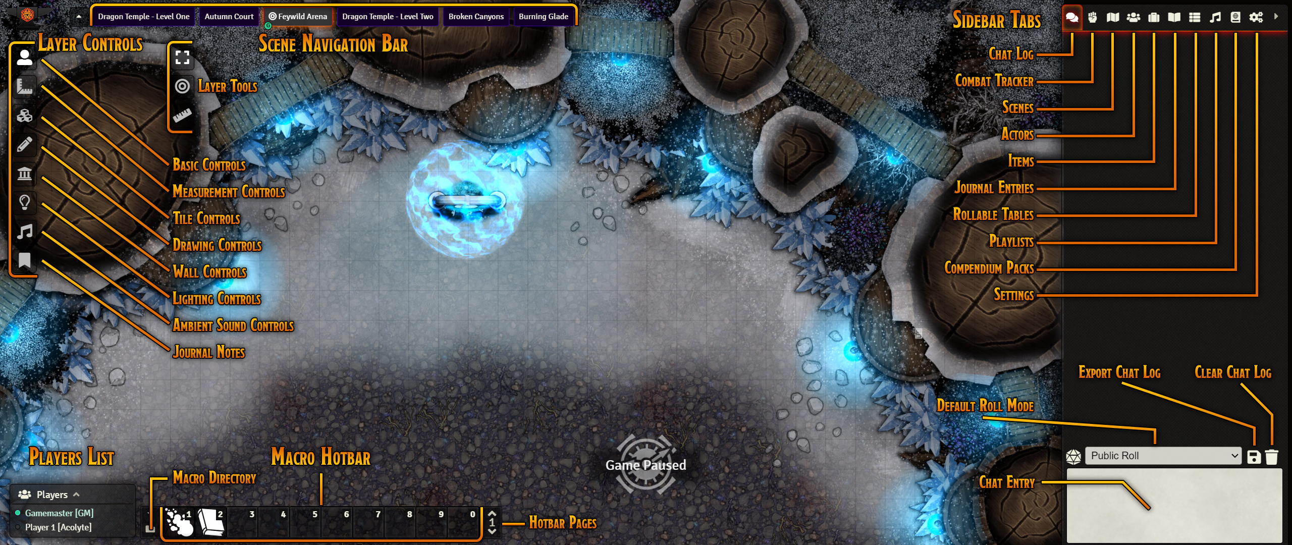 GM UI Map