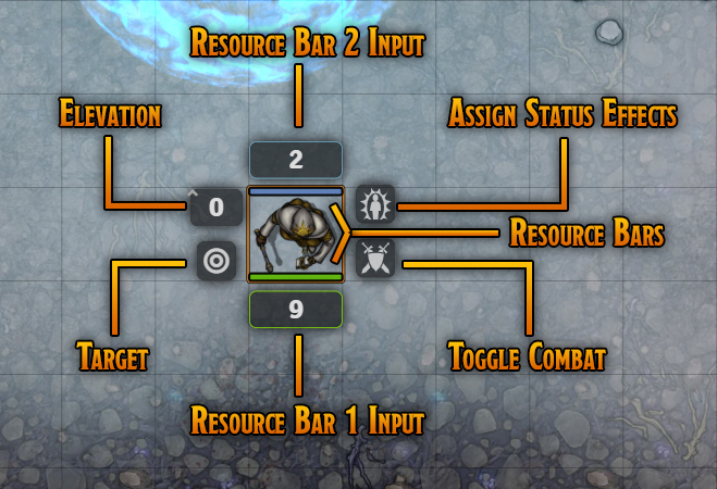 Player Token HUD