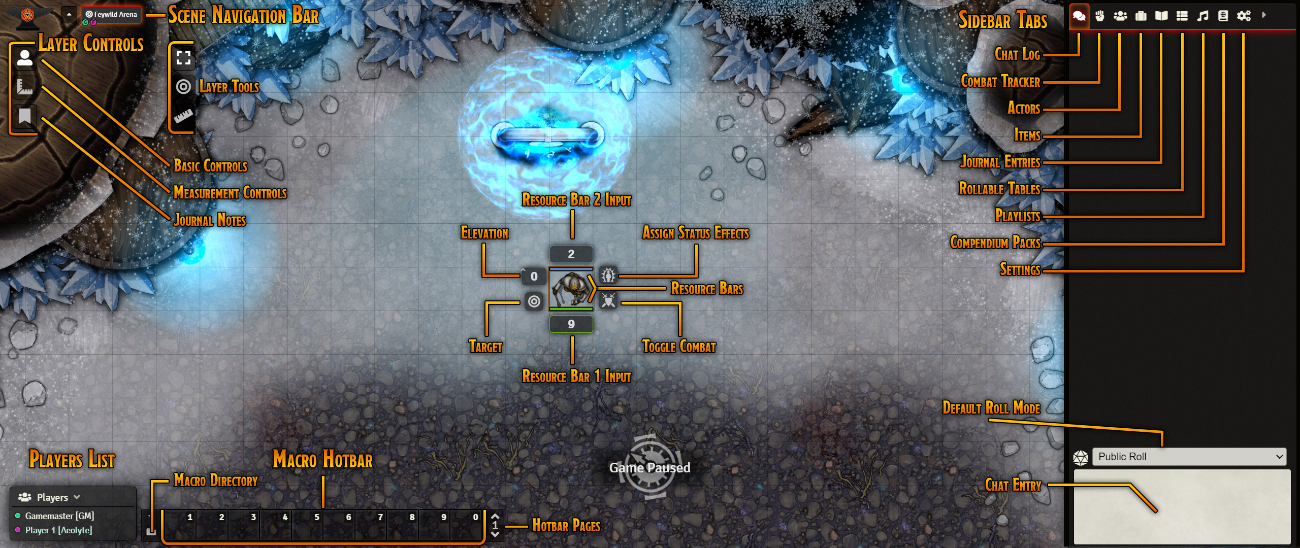 Player UI Map